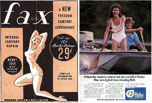 Reklamiranje tampona kroz istoriju