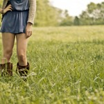 Girl standing in the field