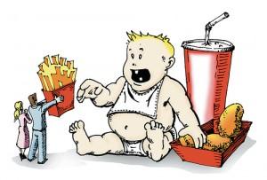 Dete jede brzu hranu